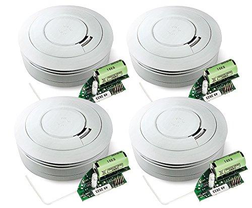 Ei Electronics Ei650RF 10-Jahres-Funkrauchmelder, 4 Stück