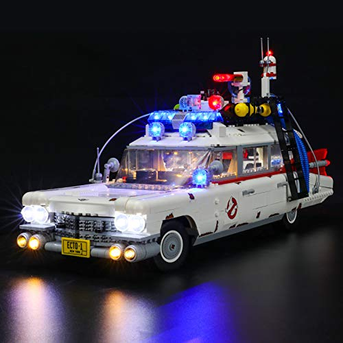 BRIKSMAX Led Beleuchtungsset für Lego Ideas Ghostbusters™ ECTO-1 - Compatible with Lego 10274 Bausteinen Modell - Ohne Lego Set