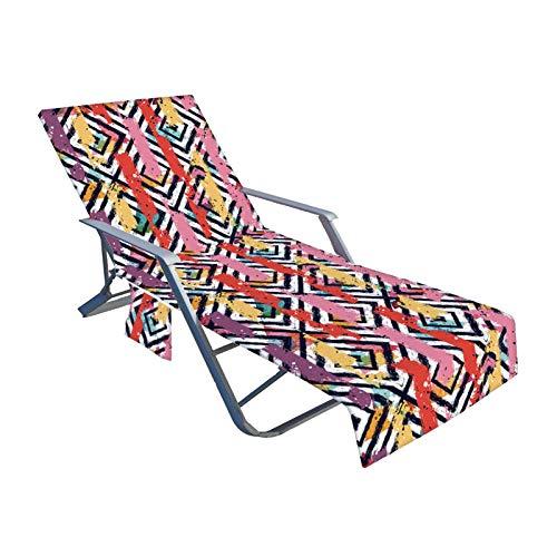 TLM Toys Funda para tumbona con 2 bolsillos laterales, cubierta para piscina, para tomar el sol, cómoda y suave para piscinas, playas, hoteles de jardín o lugares