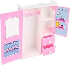 Urisgo Armadi per Bambole Mini Armadio Pieghevole Organizzatore di Abbigliamento per Guardaroba per Bambole Dream House
