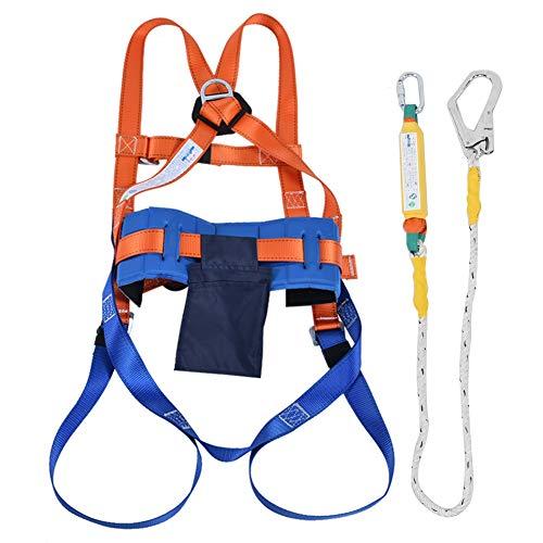 Kit di imbracatura di sicurezza Kit di protezione di sicurezza per tutto il corpo Imbracatura con cintura Assorbitore di caduta Cinghia per l'arrampicata su tetti di lavoro aereo