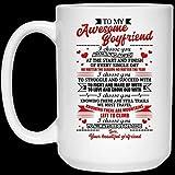 Divertida taza de café de Navidad de Halloween de 11 oz para mi increíble novio Te elijo una y otra vez al principio y al final Taza de café
