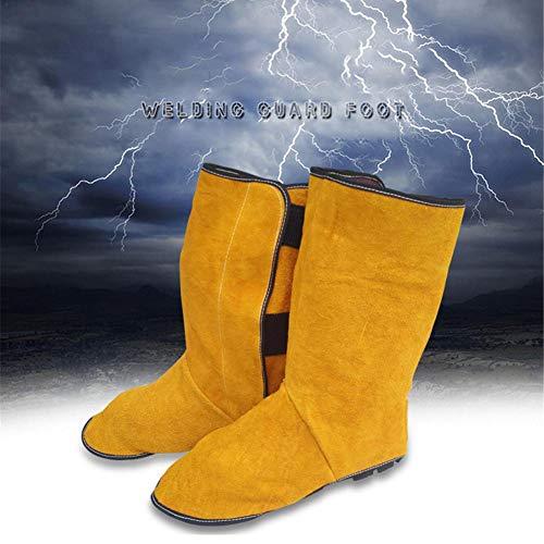awhao-123 Cuero de Soldadura Spats Zapatos de protección Cubierta de pies, Protección Bota Resistente al Fuego para Soldador, Cubierta de pie de Soldador Beautiful Astounding