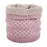 Pluto Fox Cable de punto caliente clásico bucle infinito de la bufanda de la manga de la bufanda para Unisex-adulto 22 * 47cm Rosa, Rosa