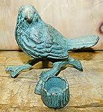Vintage Cast Iron Supplies for Home Décor Feeder Cast Iron Dove Garden Statue Bird Candle Holder Home Decor Blue Bird for Home Decor - Made Like Old Stuff
