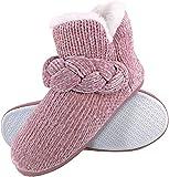DUNLOP - Mujer Invierno Pantuflas Zapatillas de Estar por Casa Botas de Casa con Suela Goma (37 EU, 8033 Pink)