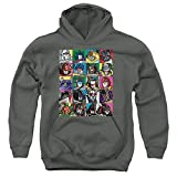 Transformers Transformer Squares Unisex Youth Pull-Over Hoodie, Charcoal, Medium