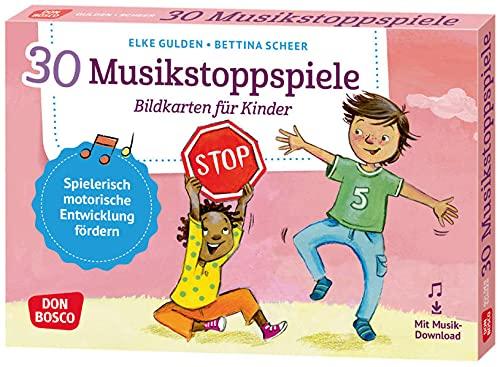 30 Musikstoppspiele. Bildkarten für Kinder.: Bewegungsspiele & mehr für Kita, Grundschule & Kinderturnen (Körperarbeit und innere Balance. 30 Ideen auf Bildkarten)