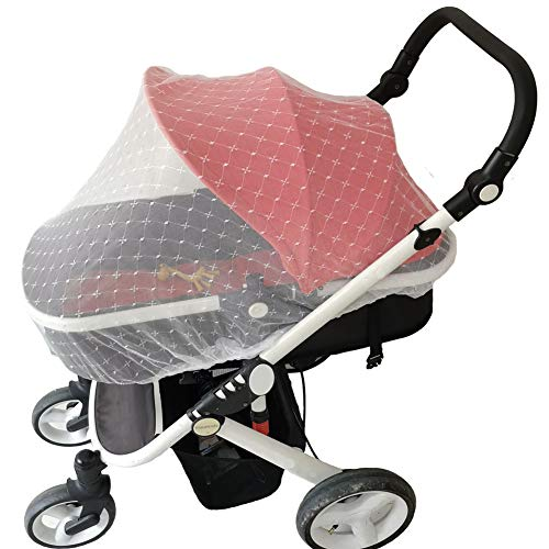 2 Pack Baby Mosquito Net for Stroller, Bug Net for Infant Carriers, Cradles,Crib, Pack and Play,Bassinet, Playpen Netting, Premium Infant Bug Protection for Summer Infant, Graco, Baby Jogger, Chicco