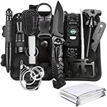 Gifts for Men Survival Kit 13 in 1 Men Stuff Gift for Men Hunting Gear Survival Tools Camping Gadgets Cool Stuff for Men Dad Husband Outdoor Hiking Camping Trip Wild by NIKAHOO