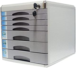 KANJJ-YU Bureau tiroir Sorter, en alliage d'aluminium multi-couches supports à journaux Tiroir verrouillables bureau Organ...