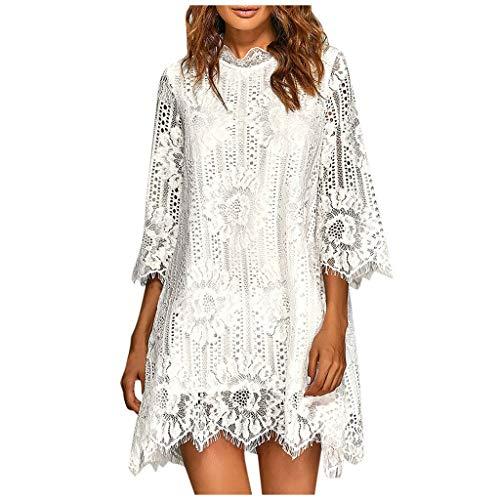 ZuzongYr - Vestido de Mujer ➤ Falda de línea A, Falda de...