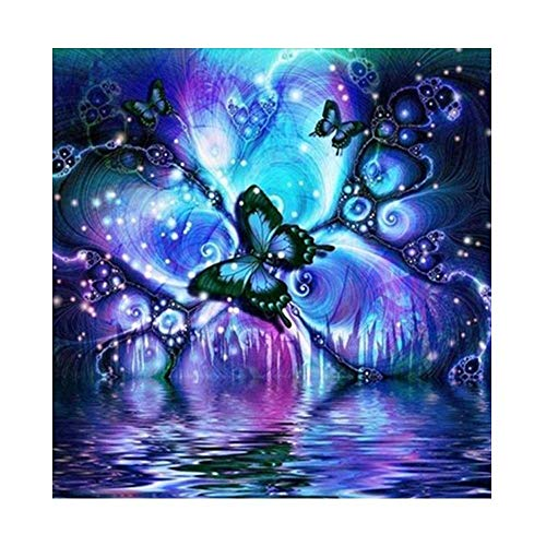 """Diamond Painting Kits Full Drill,VLikeze Astory DIY 5D Diamond Painting Kits Rhinestone Crystal Embroidery Pictures Cross Stitch Art Craft for Home Decor Butterfly 30 * 30 cm/11.8""""x11.8"""""""