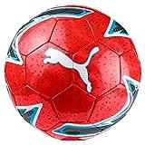 PUMA One Laser Ball Fußball, Red Blast-Bleu Azur White, 5