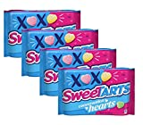 Sweetarts Conversation Hearts Valentines Day Candy Bulk Pack of 4 Bags - 14 oz Per Bag - 56 oz Total - Valentine Phrases on Every Candy Heart