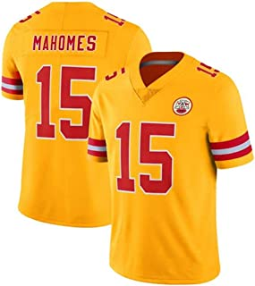 Franklin Sports Kansas City Chiefs #15 Patrick Mahomes Yellow Limited Game Jersey for Men Women Youth