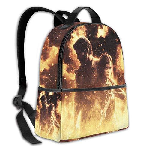 AOOEDM J-oel und Ell-ie T-he Last of Us Multifunktionsrucksack Schultaschen für Damen und Herren Reisewanderung mit Kettle Pocket Backpack
