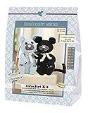 Go Handmade Cats, 1 Häkel-Set Burt und Bart Häkelset, Baumwolle, schwarz/grau, 16 x 7 x 22 cm