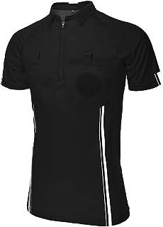 Camiseta de árbitro de fútbol para hombre, manga corta
