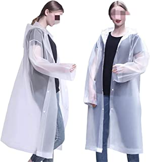 Eva Raincoat Adult Raincoat Ladies Fashion Outdoor Hiking Waterproof Lightweight Environmental Protection Transparent Rain...