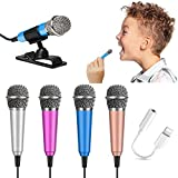 UUU DAMAO Micro Microphone – Mini Microphone for Phone – Karaoke Microphone Plug-in – Stylish, Portable, Mini Size Making it Easy to Hold, Set Up, and Use – High Sound Quality Tiny Microphone
