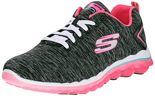 Skechers Sport Women's Skech Air Sweet Life Fashion Sneaker,Black/Hot Pink,8.5 M US