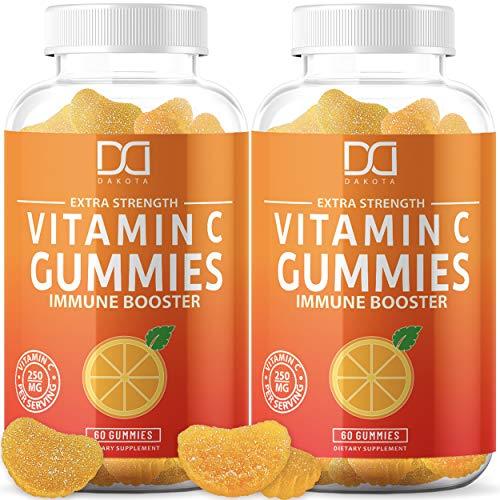 Chewable Vitamin C Gummies Vitamina Supplement for Adults Kids Vegan Vit C Vitimin. Liopsomal Vitamine Bitamin Immune Support, Gummy Alternative to Tablets, Powder, Drops, Pills, Capsules (2 Pack)