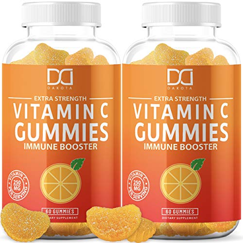 (120 Pectin Gummies) Vitamin C Chewable Gummies for Immune Support Booster for Adults Kids Teens Women Men - Gummy Alternative to Tablet Powder Chewables, Liquid Drops, Pills Capsules Packets (2 Pack)