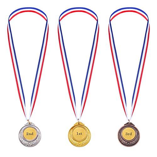 Medallas de Ganador de Metal en Estilo Olímpico de Color Oro Plata Bronce