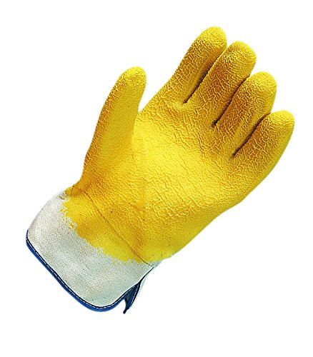 San Jamar 1000 Rubber Oyster Shucking Glove with Cotton Lining (Pack of 2),Yellow
