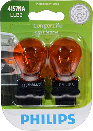 Philips 4157NALLB2 LongerLife Miniature Bulb, 2 Pack