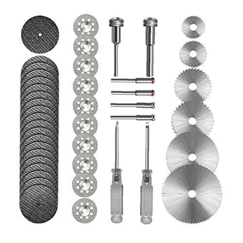 Sierra de corte del sistema de rueda HSS circular de los discos de corte rotativo de la herramienta de corte de resina Ruedas 44 Packs