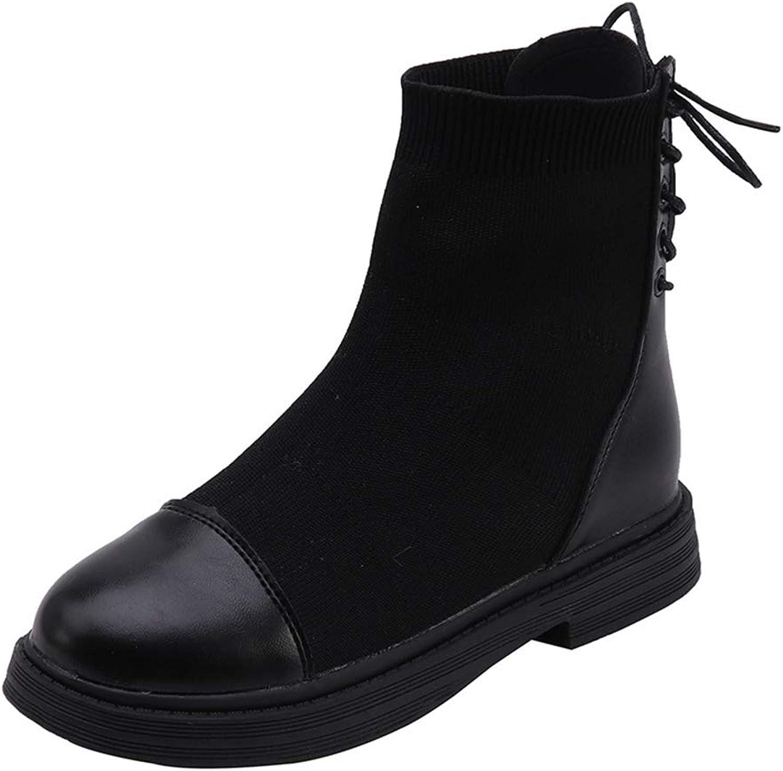 Ladies High Heel Pointed Socks Western Mid Calf Boots Waterproof Boots