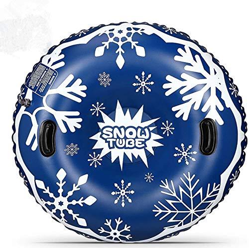 LANREAYOU Aufblasbare Schlitten Aufblasbarer Schlitten 47 Zoll aufblasbarer Schneerohr Schwerlast Snow Tube mit Griffen für Kinder und Erwachsene, Winter, Weihnachten, Schnee