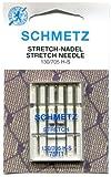 SCHMETZ - Lot 5 Aiguilles Machine à Coudre - Taille 75 - Tissu Stretch - Aiguilles Machines à Coudre Familiales