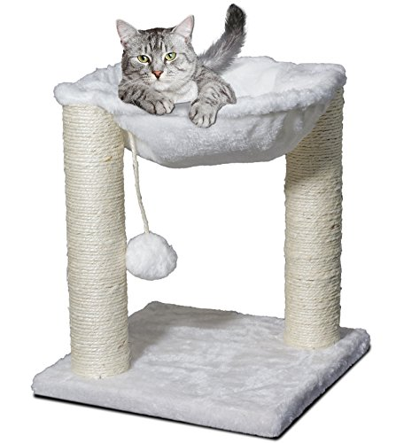 Paws & Pals 3-in-1 Cat Scratching Post w/Hammock & Toy