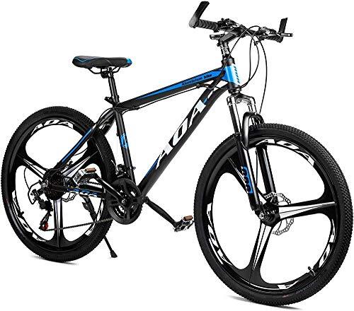 SYCY Bicicleta de montaña de aleación de Aluminio con suspensión Delantera, Ruedas de 26 Pulgadas, 21 Frenos de Disco Dual de Velocidad múltiple, Bicicletas de Carretera híbridas-Segundo_26'