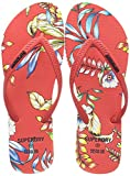 Superdry F3-Flip Flop, Mocasn Mujer, Red Hawaiian, 40 EU