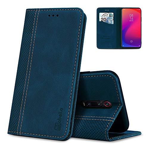AKABEILA Hülle für Xiaomi Redmi K20 / K20 Pro/Mi 9T / Mi 9T Pro Handyhülle Leder Flip Hülle Ständer PU Brieftasche Schutzhülle Klapphülle Tasche Hülle mit [Kartenfach] [Standfunktion] [Magnetisch]