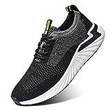 LK LEKUNI Zapatillas Running Hombre Mujer Zapatos Deporte para Correr Trail Fitness Sneakers Ligero Transpirable-Negro02-38