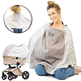 Fair-e-Trade Design Patent Nursing Cover Poncho, 360° Full Privacy, Open Window For Eye Contact, Multi Use Cover for Baby Stroller Cover, Carry Bag, Soft And Breathable, Baby Shower Gifts for Boy&Girl