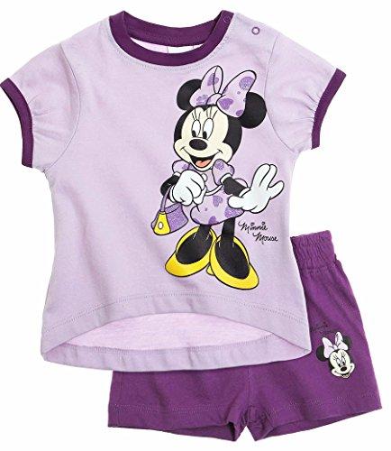 Ensemble short et tee shirt manches courtes bébé fille Minnie Violet 12mois