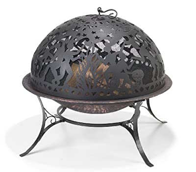 Good Directions FD-2 Full Moon Party 30-Inch Copper-Finished Steel Fire Dome with Built-In Spark Screen