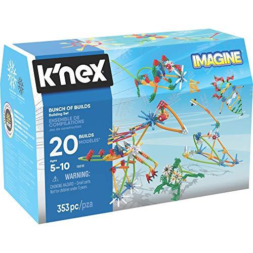 K'NEX 34698 - Bau- und Konstruktionsspielzeug Set Bunch Of Builds, Baukasten für vielfältige Konstruktionen mit 353 Teilen, Konstruktionsset für 20  Modelle, Bauset für Kinder von 5 bis 10 Jahre