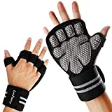 LotFancy Workout Gloves for Women Men, 1 Pair Ventilated Weight Lifting Gloves with Wrist Support...