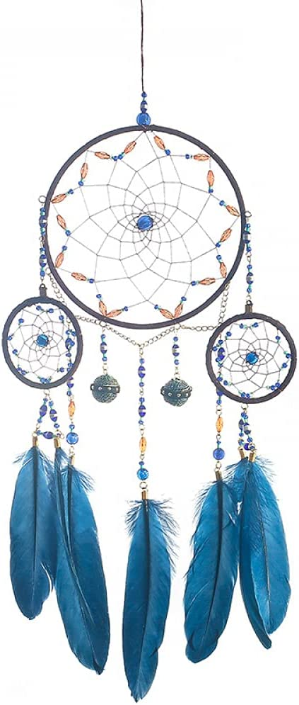 Zoharm Blue In a popularity Dream Catcher Wind In stock Hanging Feath Decor Bell Handmade