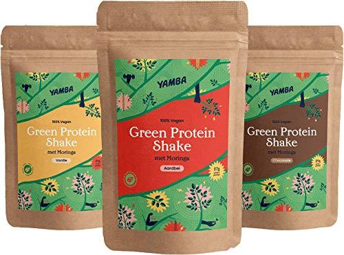 Proefpakket Plantaardige Proteïne Shakes, Vanille, Chocolade, Aardbei, 100% Vegan én Natuurlijk!
