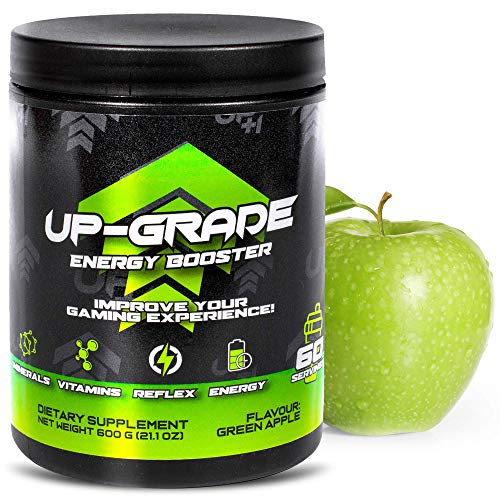 UP-GRADE - Energy Drink Pulver - Koffein Pulver für mehr Konzentration im e-Sport - 600 g 60 Servings (Green Apple)