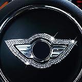 HYCQ Coperchio Volante Volante per Auto Centro Decorazione Adesivo Accessori Interni per M-ini per C-ooper S F60 F54 F55 F56 R60 R58 R56 R55 Car Styling Volante Trim (Color : Argento)