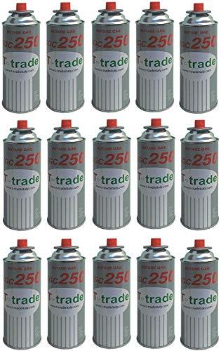 ALTIGASI 15 Stück - Gaskartusche GPL 250 g Art. KCG250 Ideal zum Schweißen oder Backofen, geeignet für CAMPINGAZ cp250 Brunner